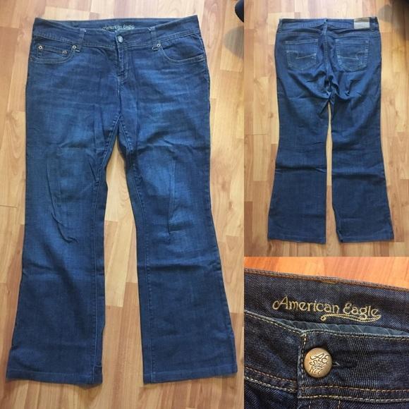 "American Eagle Dark Blue ""Artist"" Flare Jeans 14 R"